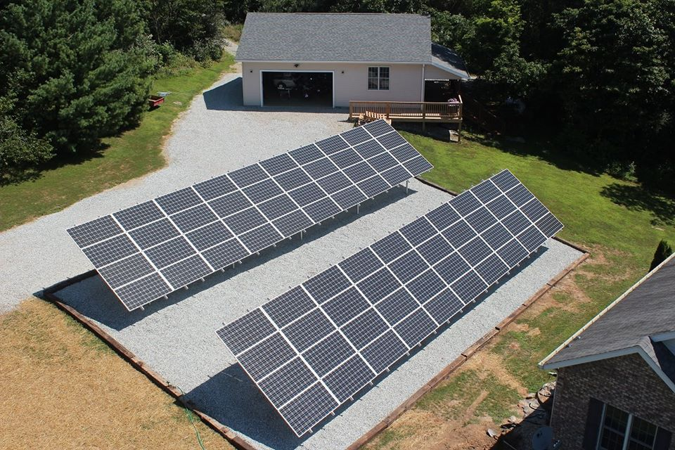 How do ground-mounted solar systems work?